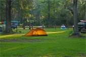 Tents at a campground