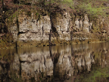 Karst reflected in water's surface