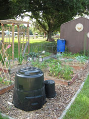 Rain Garden with Compost Bin